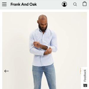 Frank and Oak Jasper Stretch Slim Oxford Shirt
